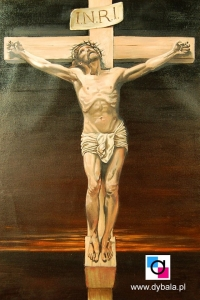 Krzyż Pasyjny 40x60 - Obrazy olejne