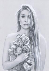 portret ołówkiem